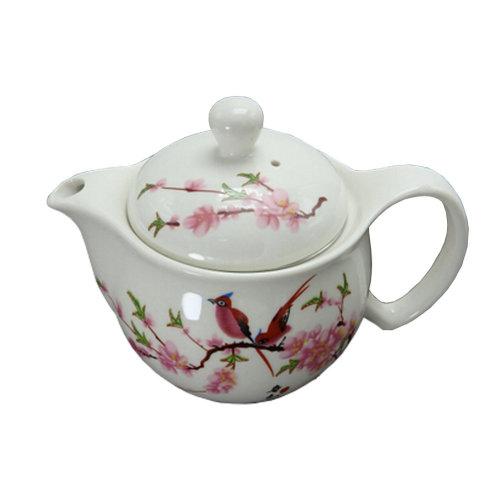 Peach Blossom Stylish Ceramic Teapot With Tea Infuser Tea Kettle