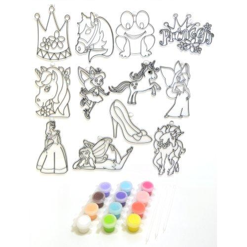 Suncatcher Group Kit Medium-Fairy Tales 12/Pkg