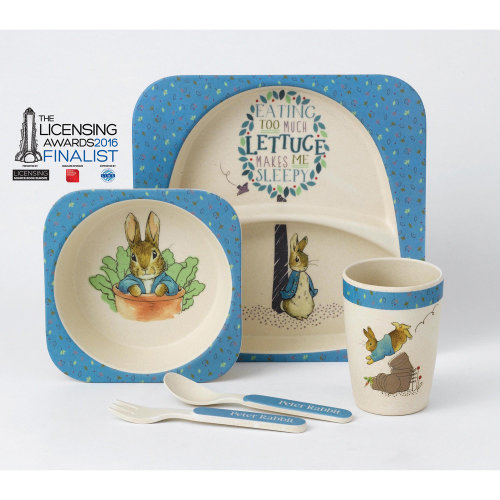 Peter Rabbit Organic Dinner Set Plate Cup Cutlery Bowl ECO FRIENDLY Gift