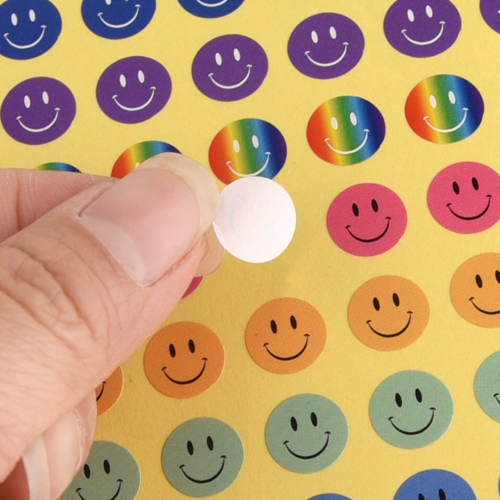 Parents fepito 10 sheets 1040 pcs smiley face stickers mini happy face stickers for teachers