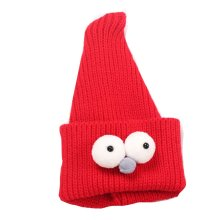 Cute Insect Children Hand-knitted Resile Winter Hat Baby Soft Warm Cap,Red