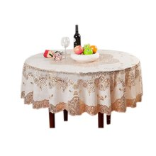 European Style Gold Stamp Waterproof PVC Tablecloth (150*150cm)