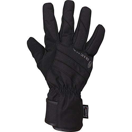 Richa Dusk Leather/Textile Thermal Waterproof Motorcycle Gloves Black