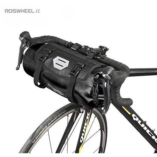Jhua Bicycle Handlebar Waterproof  Bags, Large Capacity Detachable Bike Bags 3-7L ,Black