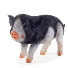 Realistic Black Piglet Resin Garden Ornament