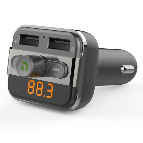 SEGURO Wireless Bluetooth FM Transmitter Car Kit Hand-free Calling Radio Receiver Dual USB MP3 Audio Player Support USB Flash Driver & Micro SD...