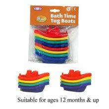 Bath Tug Boats 8 Pack