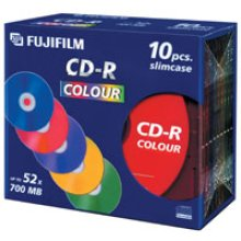 Fujifilm CD-R 700MB 52x, 10-Pk Slimcase 700MB