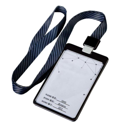 Aluminum Alloy Vertical Style ID Card Badge Holder with Neck Lanyard Strap 3PCS, 23