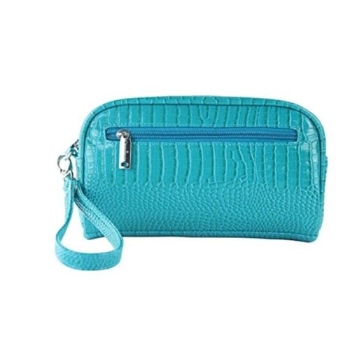 Picnic Gift 7622-BT Margarita-Insulated Cosmetics Bags with Removable Wristlet, Blue Turquoise