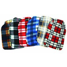 Finesse Hot Water Bottle - Tartan Fleece Covered -  finesse tartan fleece covered hot water bottle