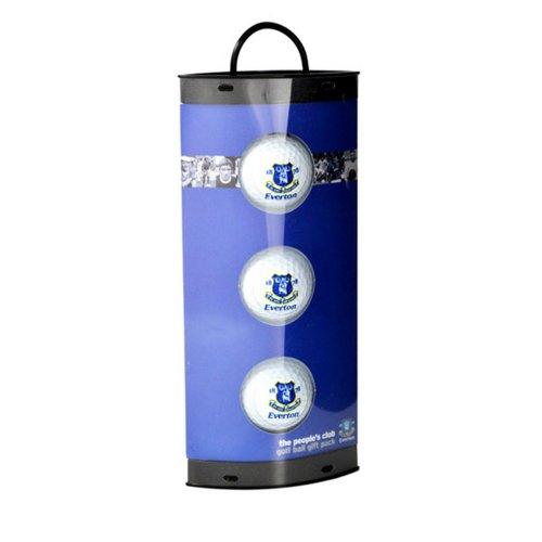 Everton FC Official Football Crest Golf Ball Gift Pack