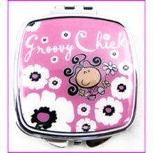 Groovy Chick Compact Mirror