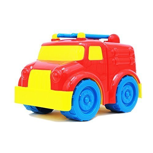 BOLEY Fire Truck Toy for Toddlers and Kids - Educational Toddler Red Fire Truck - Great Baby Toy Car as Sandbox Toy or Educational Toy