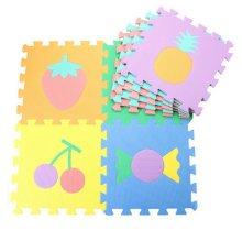 Colorful Waterproof Baby Foam Playmat Set-9pc, Fruits