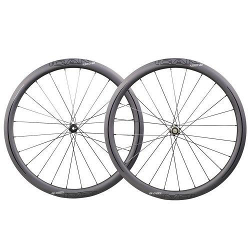 ICAN Carbon Road Bike Wheels AERO 40 Disc