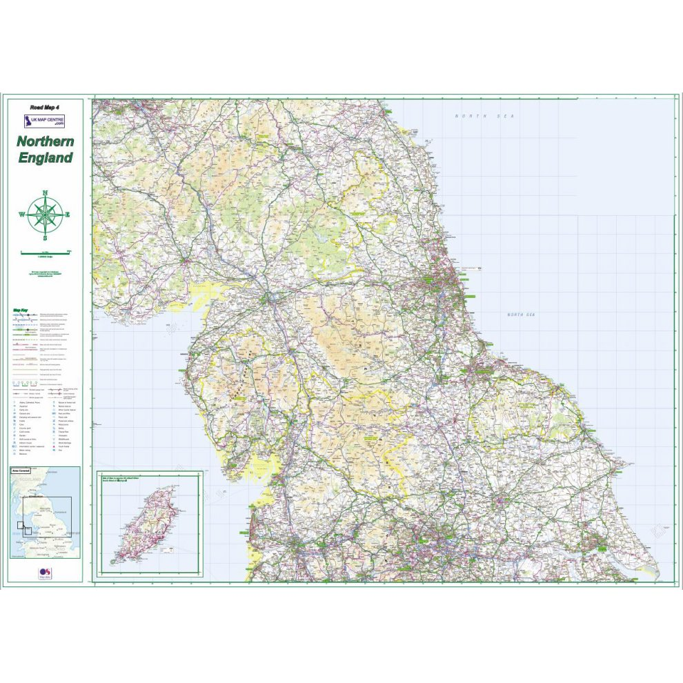 Map Of Northern England.Road Map 4 Northern England
