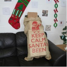 Keep Calm Large 60cm x 110cm Vintage Santa Christmas Gift Sack Xmas Stocking Traditional