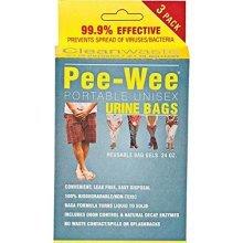 Cleanwaste Pee-Wee Urine Bags, 24-Count, 3-Packs