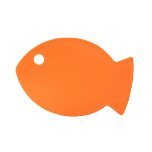 Creative Fish Shaped Health Baby Cutting Board Flexible Chopping Board ORANGE