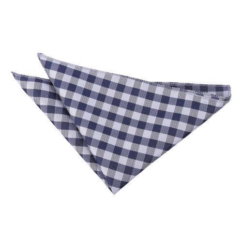Navy Blue Gingham Check  Pocket Square