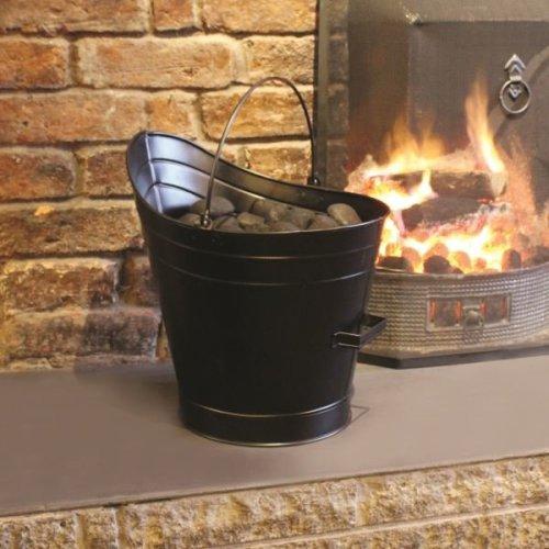 a'la Maison Fireside Fireplace Coal Skuttle  Vintage Metal  W34.50 D33 H37.50cm