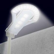 Solar Street LED Lamp 2.5K LM with Remote Control Motion & Dusk Till Dawn Detectors UFO