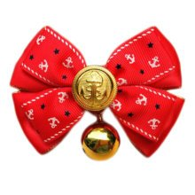 England Style Pet Collar Tie Adjustable Bowknot Cat Dog Collars with Bell-C02
