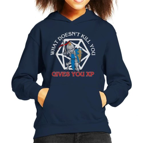 What Doesnt Kill You Gives You XP Kid's Hooded Sweatshirt