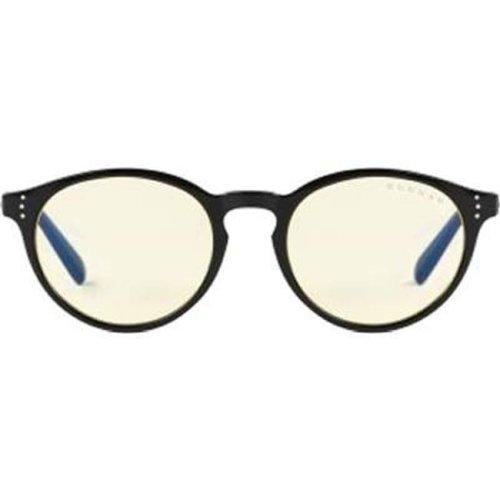 Gunnars ATT-00101 Attache Computer Eyeglasses Onyx Frame Amber Lens