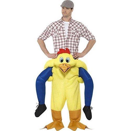 Piggyback Chicken Fancy Dress Costume -  piggyback costume mens ladies ride mascot fancy dress christmas halloween