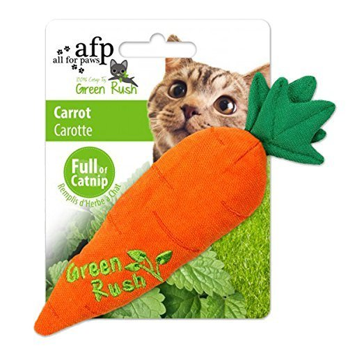 AFP Green Rush Carrot with Catnip Cat Toy, 12 g
