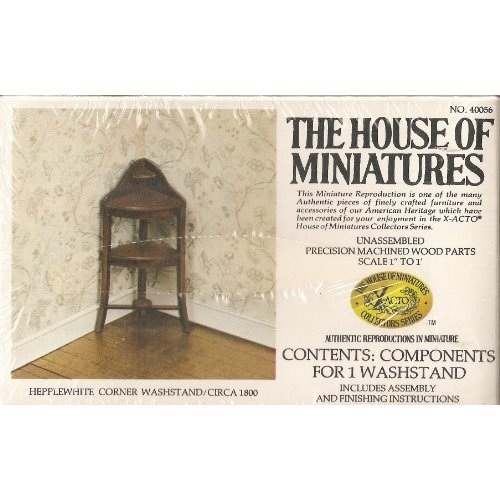Dollhouse Furniture- Hepplewhite Corner Washstand/ Circa 1800 #40056 Assembled (The House of Miniatures)
