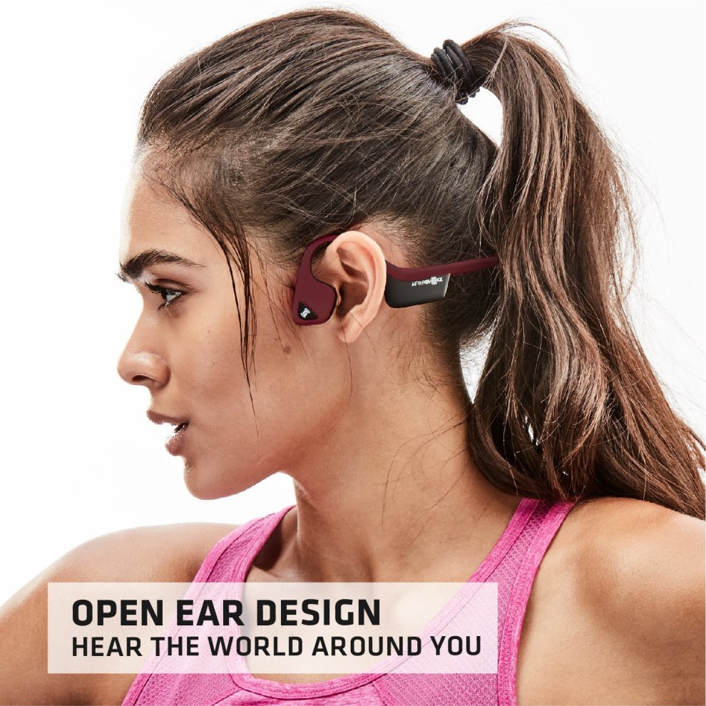 a71062ead97 ... AfterShokz Trekz Air Wireless Bone Conduction Headphones Bluetooth  Sweatproof Lightweight Earphones with Mic for Sports, ...