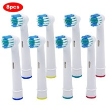 8 pcs Replacement Brush Heads Compatible with Oral-B Electric Toothbrush Professional Care