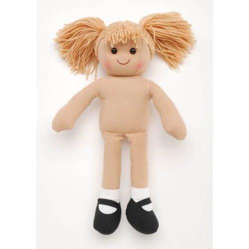 Darice 1238-82 Doll Girl Undressed Yarn Head Fawn 13.75In
