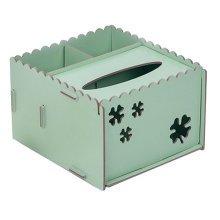 DIY Wooden Cosmetics Storage Box/tissue box/Stationery Holder,Light Green