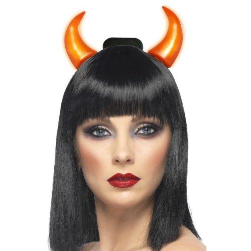 5778b8733adf2 Red Light Up Devil Horns - light up devil fancy dress horns halloween  accessory ladies headband on OnBuy