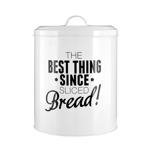 Pun & Games Bread Bin, White