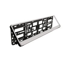 "Silver Standard Abs Number Plate Surround - """" Registration Frame Car Van - Number Plate Surround ""standard"" Abs Silver Registration Frame Car Van"