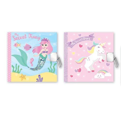 2019 Secret Diary Mermaid Unicorn Christmas Gift Pink Green Girls Lock Key
