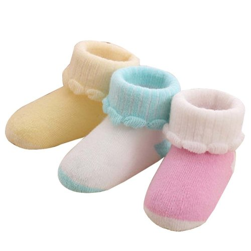 3 Pairs Baby Winter Socks Thick Terry Socks Warm Cotton Socks [D-2]