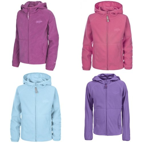 Trespass Childrens Girls Snozzle Hooded Microfleece Jacket