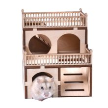 [C] Hamster Wooden Toy Hamsters DIY Habitat Pet Supplies for Small Animal