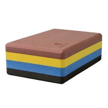 High-Density Yoga Block Foam Blocks Brick Yoga Mat Accessory Gym - Rainbow