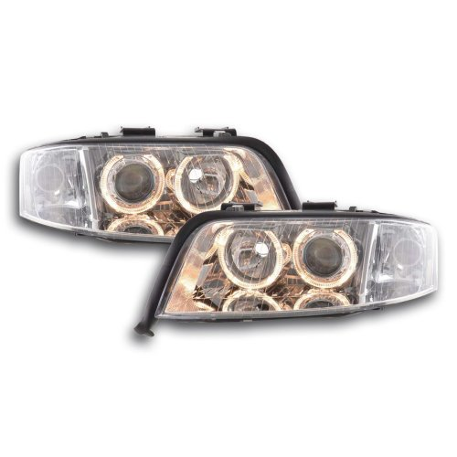 Angel Eye headlight  Audi A6 type 4B Year 01-04 chrome