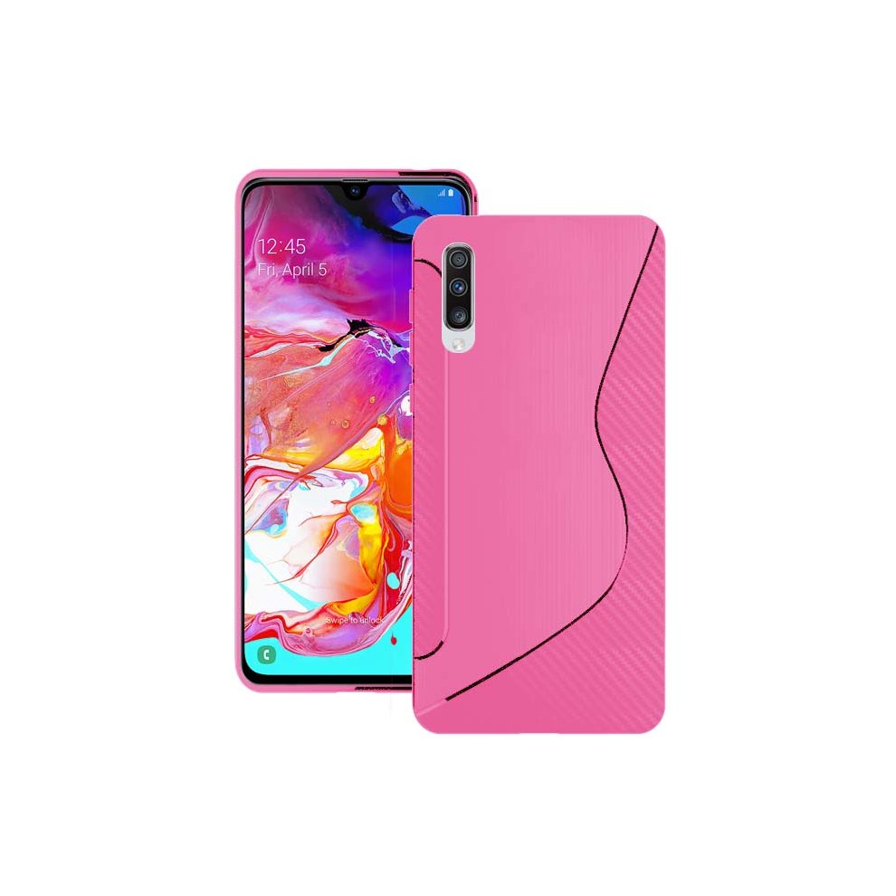 huge selection of b0972 8d159 For Samsung Galaxy A70 2019 Silicone S-Line Gel TPU In Pink Case Cover