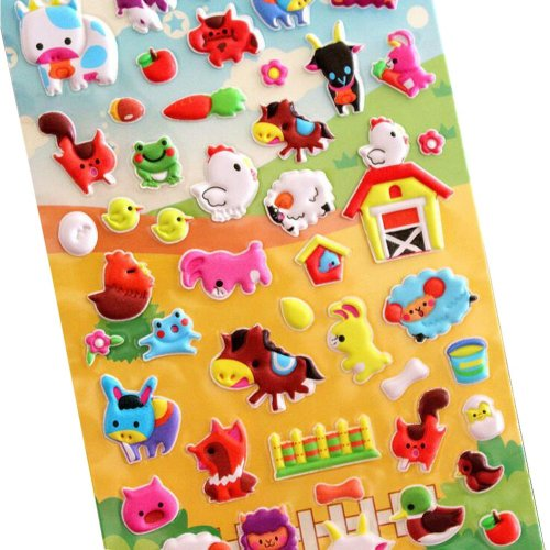 5 Sheets Funny Cartoon Stickers Children Decorative Toys