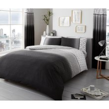 Urban Ombre grey cotton blend duvet cover