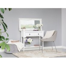 2 drawer console table in white LOWELL
